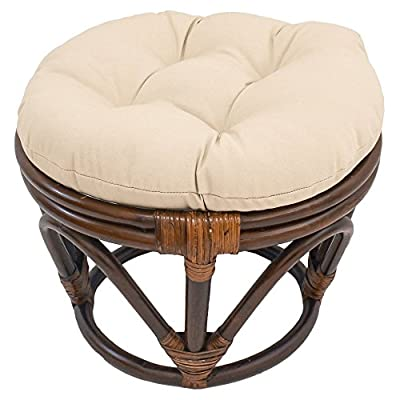 International Caravan Papasan Stool with Solid Cushion