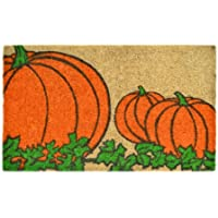 Imports Decor Printed Coir Doormat, Pumpkins, 18-Inch by 30-Inch