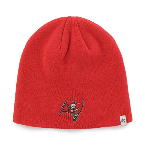 (Tampa Bay Buccaneers Red Skull Cap - NFL Cuffless Beanie Knit Hat)