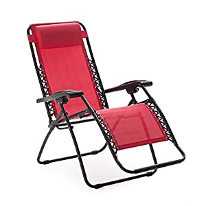 Caravan Canopy Sports Zero Gravity Chair - Red