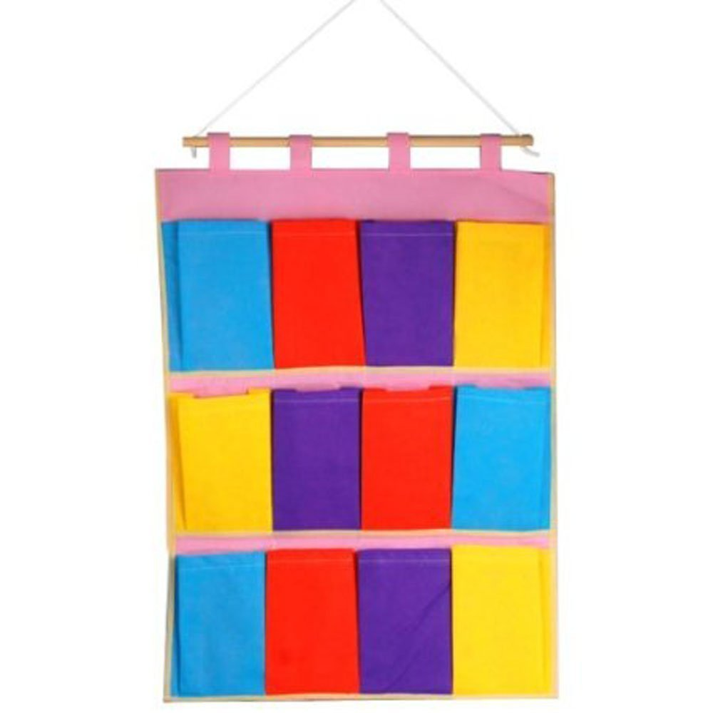 DierCosy Hanging Storage Bags Wall Door Cloth Colorful Case Pocket Home Organization