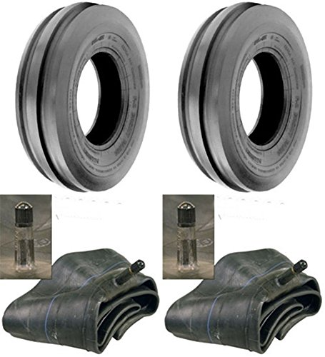 LOT OF TWO (2) 6.00-16 6.00X16 600-16 Tri Rib (3 Rib) F-2 Tires with Tubes 6 PLY RATED ()