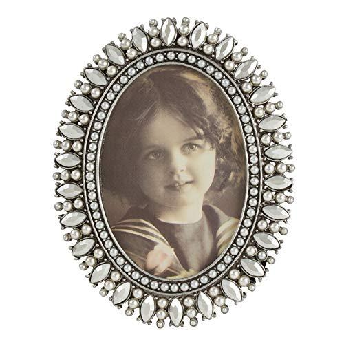 - SARO LIFESTYLE Jeweled Portrait Photo Frame, 2.5