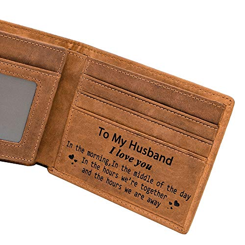(Mom Son Wallet - Engraved Leather Men Wallet-The Perfect Personalized Son Gift From Mom And Dad (Wallets-For)