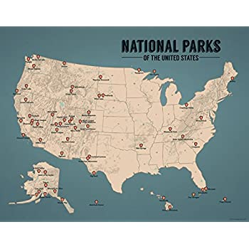 US National Parks Monuments Forests Map X Poster Best - Us national monuments map