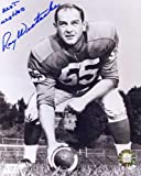 Ray Wietecha (D. 2002) Autographed/ Original Signed 8x10 Photo w/ the New York Giants in the 1950s - Later He Was Offensive Coordinator for Vince Lombardi and the Green Bay Packers When the Packers Won Super Bowls I and II