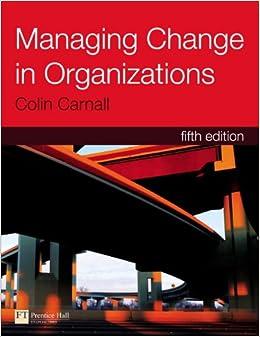 Book Managing Change in Organizations