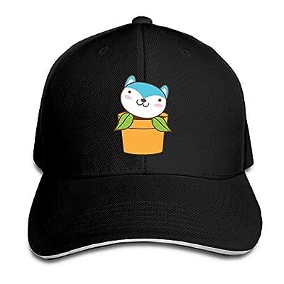 SeeSeasan Little Husky Pot Plant Custom Sandwich Peaked Cap Unisex Baseball Hat