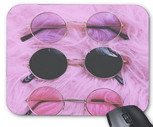 Mouse Mat Pink Purple Aesthetic Tumblr Pattern Mouse Pad 11.8X9.8 - Aesthetic Purple