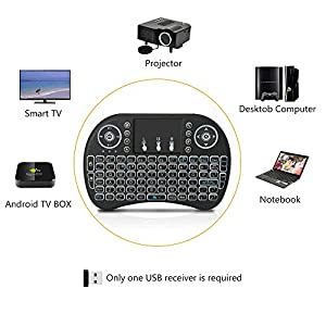 Wireless Keyboard,2.4GHz Portable Mini Wireless Keyboard with Touchpad Mouse for Android TV BOX,PC,PAD,XBOX 360,PS3,HTPC,IPTV
