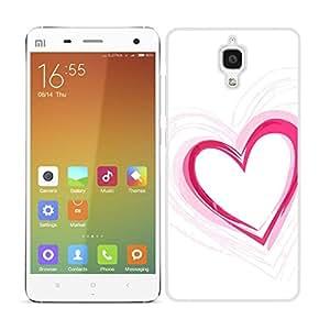 FUNDA CARCASA PARA Xiaomi MI4 DISEÑO CORAZÓN LOVE