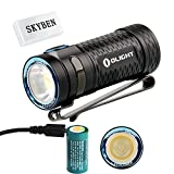 450 lumens led flashlight - Olight S1 MINI Baton Cree XM-L2 LED 450 Lumens Ultra Compact LED Flashlight Smallest Side-switch Flashlight with USB Rechargeable 16340 Battery x 1 and SKYBEN Accessory(S1 MINI HCRI)