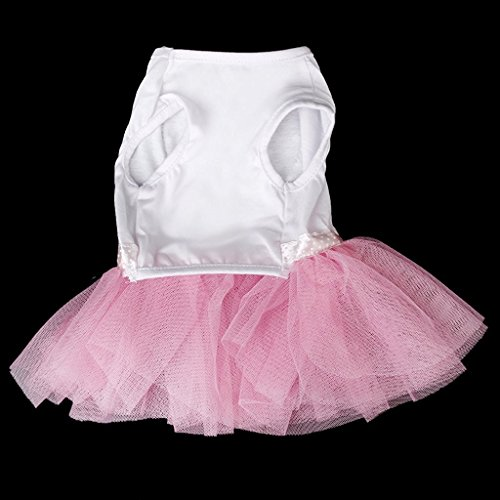 Lace Dress Super Size Dog Pet USport Teddy Skirt Princess Pink L Puppy Cute aOqwgwZ8