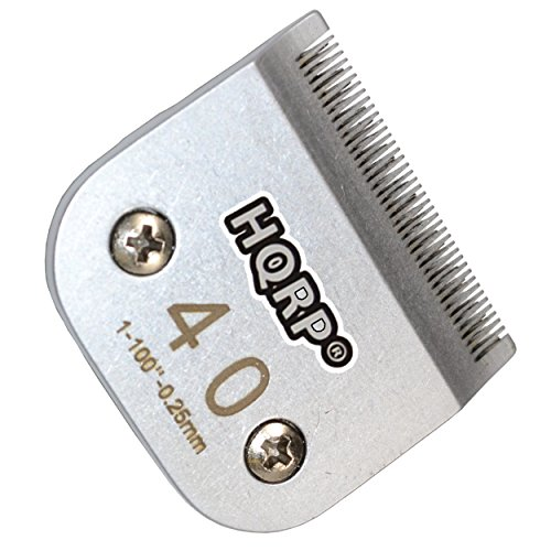 HQRP Size-40 Animal Clipper Blade for Oster A5, A-5 Turbo 2-Speed 078005-314-002, Golden A5, Turbo A5 Pet Grooming + HQRP (Single Speed Horse Clipper)