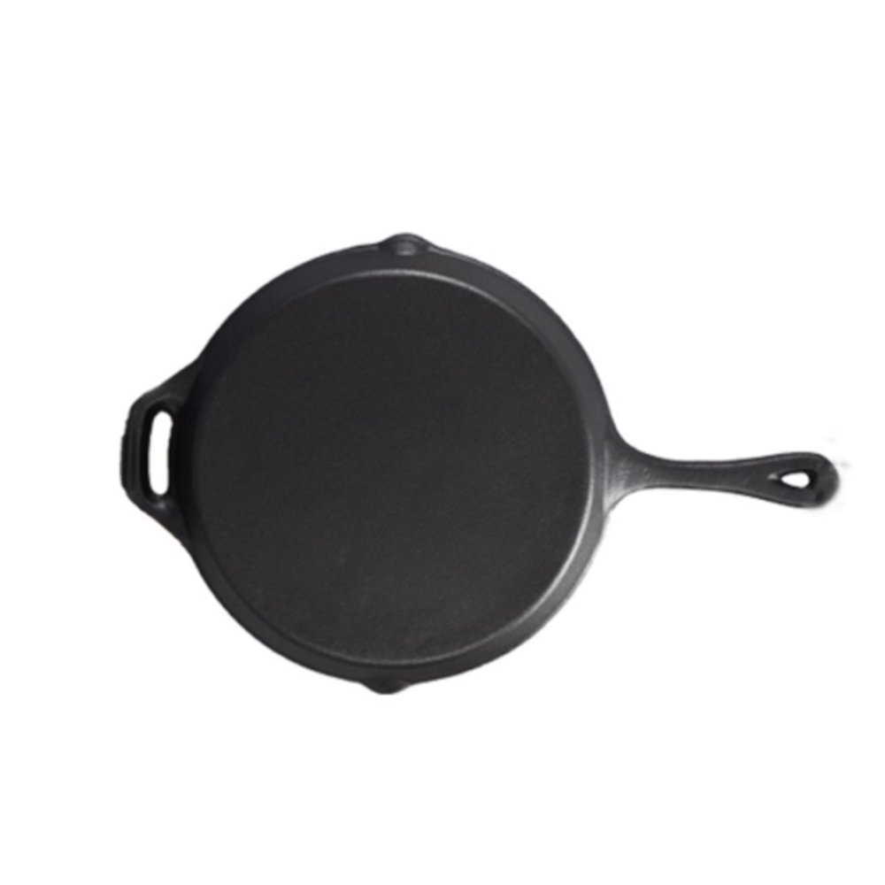 Skillet Enameled Cast Iron Handle Round Fry Pan 10 inch ブラック B0793P8YCZ  BALCK 10 INCH 10 inch