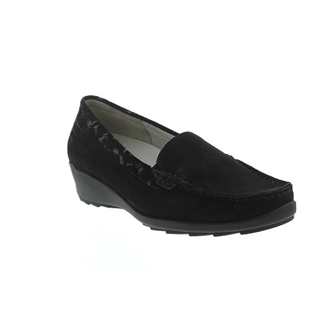 Chaussures Waldläufer Hanin noires Casual femme rqPR1