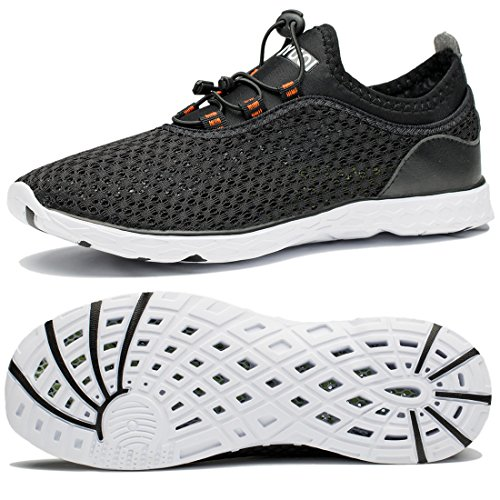 TIANYUQI Men's Mesh Slip On Water Shoes Black