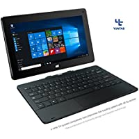 YUNTAB H8 11.6 inch Windows Intel Tablet PC 32G Quad Core 2-in-1 Tablet pre-installed licensed Windows 10 home IPS Screen With Detachable Keyboard