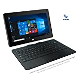 xbox quad core - YUNTAB H8 11.6 inch Windows Intel Tablet PC 32G Quad Core 2-in-1 Tablet pre-Installed Licensed Windows 10 Home IPS Screen with Detachable Keyboard(H8216-Back)