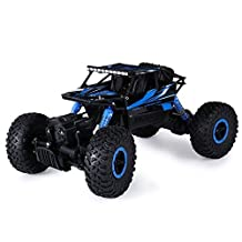 iGarden 1/18 Scale Remote Control Rock Crawler Drive Off-road Race Trunk Toy Racing Car (bule)
