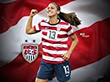 Alex Morgan poster 32 inch x 24 inch / 17 inch x 13 inch by bribase shop