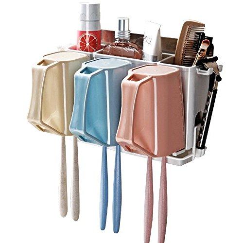 Damast Toothbrush Toothpaste Holder Stand Anti-dust Toothbrush Holder 3 Cups by Damast
