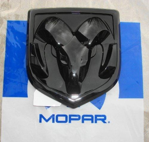 NEW 2009-2014 Dodge Ram 1500-3500 Black Tailgate Emblem / Logo, OEM Mopar!