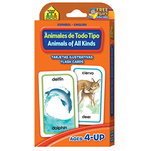 Animals of All Kinds Flash Cards - Bilingual