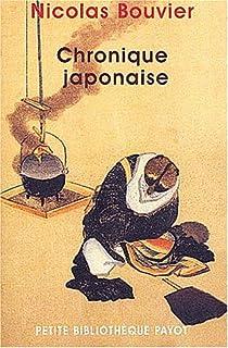 Chronique japonaise, Bouvier, Nicolas