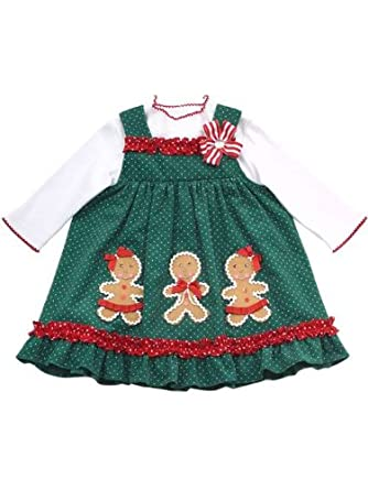 rare editions girls christmas holiday gingerbread man dress outfit w leggings brown 12