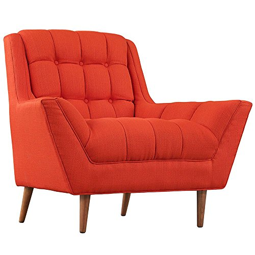 Fabric Armchair Dimensions: 39.5''W x 37.5''D x 35.5''H Weight: 102 lbs Atomic Red by Modway