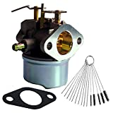 Dosens Carburetor for TECUMSEH 640349 640052 640054 8hp 9hp 10hp LH318SA LH358SA HMSK80 HMSK90 Carb with Gasket & Carbon Dirt Jet Cleaner Tool Kit