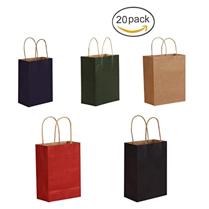 FineInno 20Pcs Bolsas Regalo Gift Bags Bolsa Papel ...