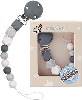 TYRY.HU, portaciuccio con clip, massaggiagengive in silicone senza BPA, masticabile, regalo per la festa in onore della futura mamma