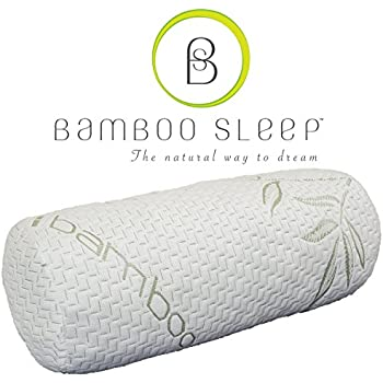 this item bamboo sleep ultra comfort memory foam bolster pillow