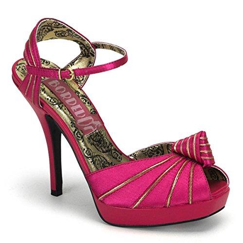 Bordello - Zapatos de vestir de satén para mujer rosa hot pink