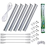 LMCO LED Grow Light 5pcs Plant Growing Lamp T5 Light Tube SMD2835 Red Blue Spectrum for Indoor Plants Greenhouse Hydroponics Vegetable Flower Seeds with US Plug Switch Wire + Cables, 11.5inch/Strip