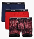2(X)IST Men's Classic Cotton Comfort Boxer Brief Multipack, Matrix/Toreador/Varsity Navy, X-Large
