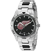 Game Time Men's NHL-HH-DET Heavy Hitter Analog Display Japanese Quartz Silver Watch