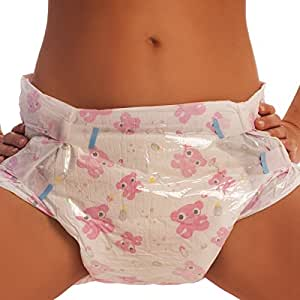 Amazon.com : ABDL Pink Adult Diapers (Large) : Baby
