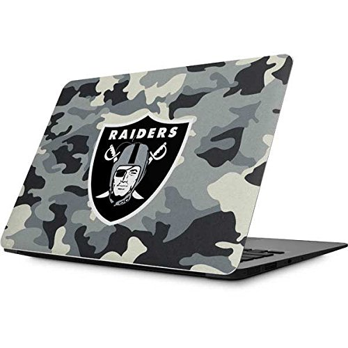 Skinit Oakland Raiders Camo MacBook 12-inch (2015 Retina Display) Skin - Officially Licensed NFL Laptop Decal - Ultra Thin, Lightweight Vinyl Decal Protection