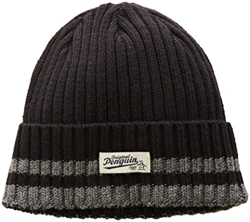 original-penguin-mens-chunky-knit-watchcap-black-one-size