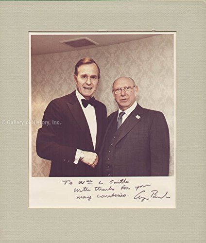 President George H.W. Bush Inscribed Photograph Signed