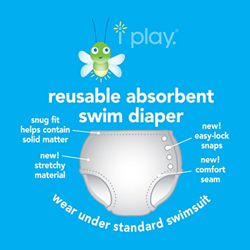Large Product Image of i play. Baby & Toddler Snap Reusable Absorbent Swim Diaper