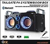 QFX PBX-505200BTBL Portable Bluetooth Party PA System/Boombox - Blue