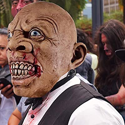 molezu Scary Latex Mask, Halloween Novelty Costume Party Mask: Toys & Games