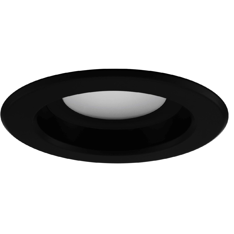 NICOR Lighting 4-Inch Dimmable 3000K LED Remodel Downlight Retrofit Kit for Recessed Housings, Black Trim (DLR4-3006-120-3K-BK)