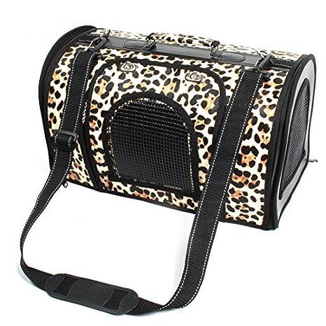 eDealMax Patrón Leopard acampar al aire Libre del Animal doméstico del gato del perrito de cierre