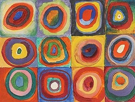 Reproduction Wassily Kandinsky Titre De L Oeuvre Carres Avec Cercles Concentriques Peinture A L Huile Sur