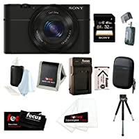Sony Cyber-shot DSC-RX100 Digital Camera (Black) Bundles (32GB Travel Bundle) by Sony